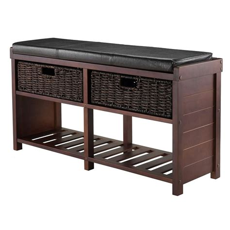 Bench Shoe Rack by Entryway Shoe Storage Bench Colin Cushion Bench Storage