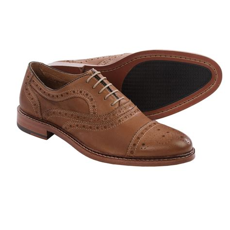 capped oxford shoe johnston murphy mcgavock cap toe oxford shoes for