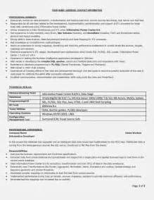 Filemaker Developer Sle Resume by Photo Project Officer Cover Letter Images