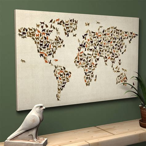 map wall decor wall designs wall map of the world decor poster