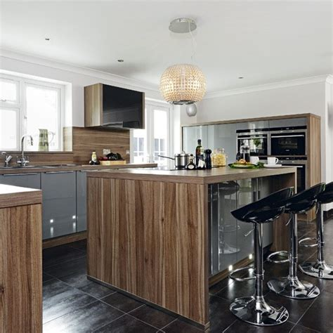 kitchen island uk hi gloss kitchen with island kitchen housetohome co uk