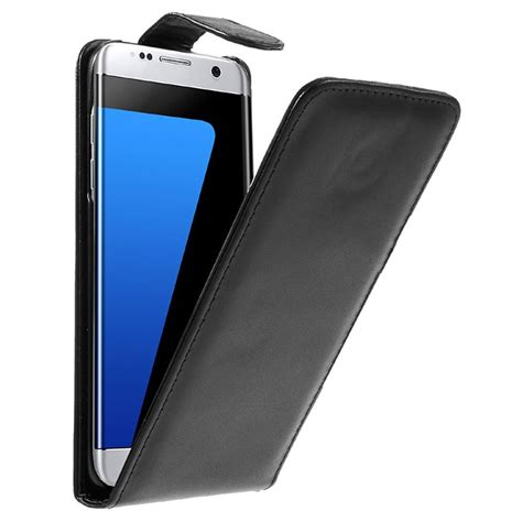 Flip Cover Samsung Galaxy S7 Edge samsung galaxy s7 edge vertical flip black