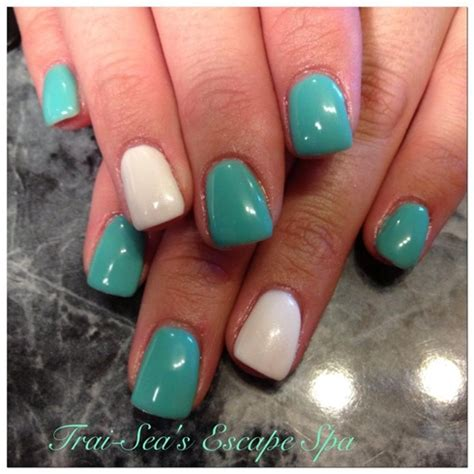 Nail Designs With Green And White