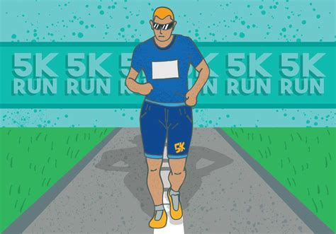5k From by 5k Run Poster Free Vector Stock Graphics