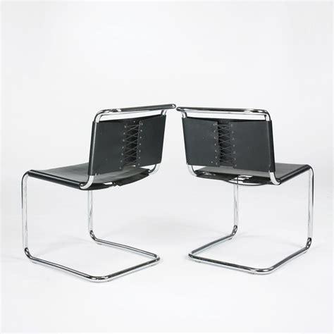 marcel breuer b33 chairs pair