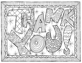 coloring page thank you thank you card coloring page printables