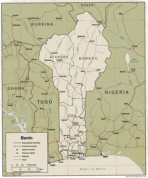 benin on the map benin dahomey map