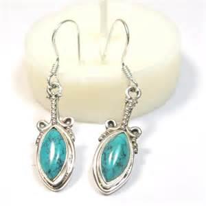 boucle d oreille argent et turquoise bijoux en turquoise