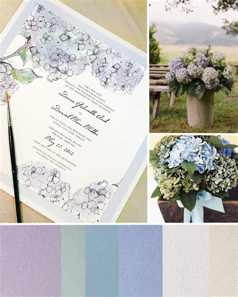 hydrangea wedding invitation inspirations blue hydrangea watercolor wedding
