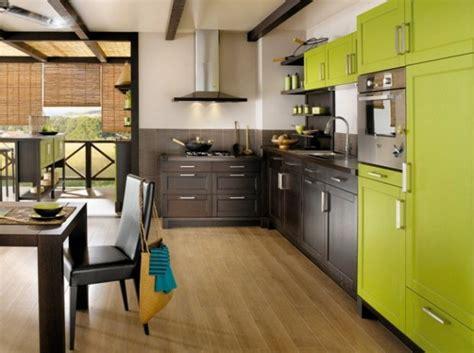 cuisine verte et marron cuisine verte pour un int 233 rieur naturel et doux