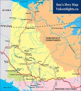 yukon map canada rv net open roads forum update alaska hwy re opened