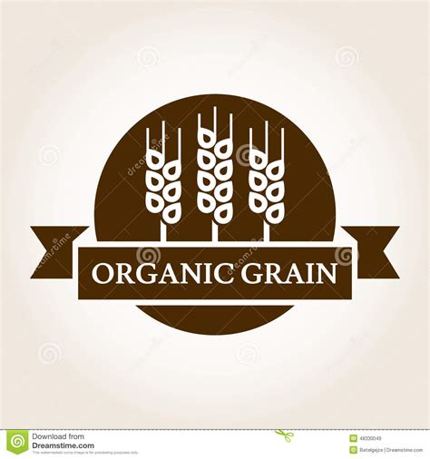 design logo label grain label or sticker vector vector illustration
