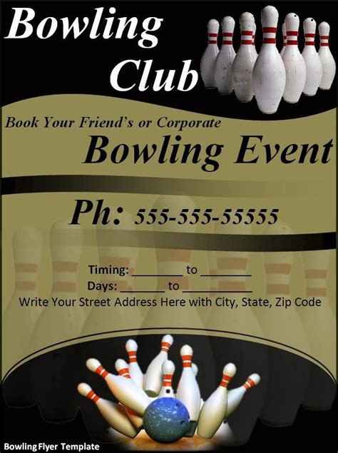 Bowling Flyer Template Word Templates Bowling Event Flyer Template