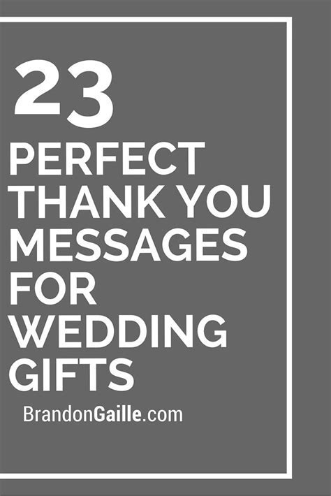 25 Perfect Thank You Messages for Wedding Gifts