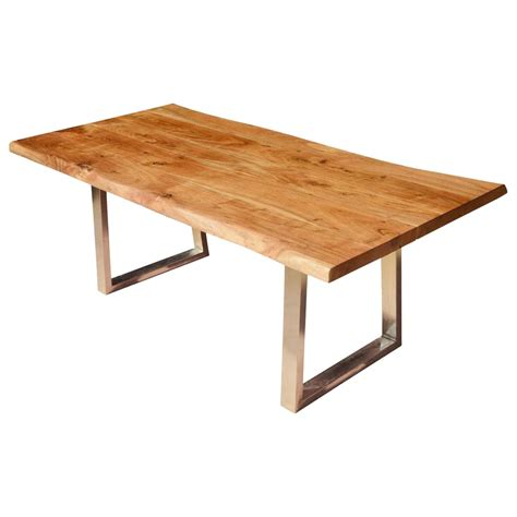 modern live edge dining table rustic solid wood