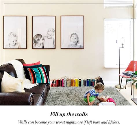 Filling Up The Walls how to make any large space in your home cozier