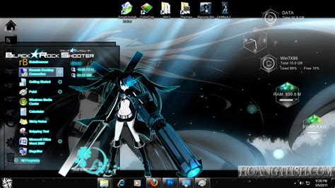 themes for windows 7 rock style win7 black rock shooter by hoangtush on deviantart