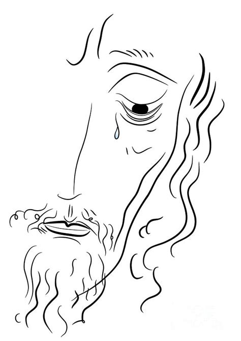 Easy To Draw Jesus by Simple Drawing Jesus Sketch Coloring Page