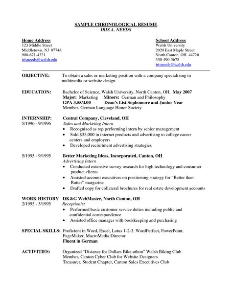 Sle Resumes Templates by Sle Resume Templates 28 Resume Functional Template