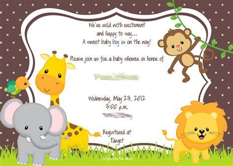 Baby Animal Shower by Baby Shower Invitations Zoo Animal Theme Futureclim Info