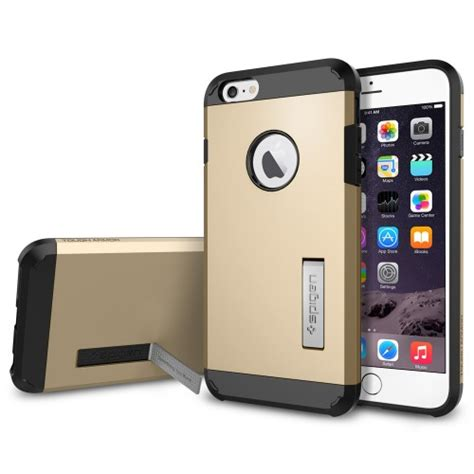 Sgp Tough Armor Plastic Tpu Combination With Kickstand For Ga sgp tough armor plastic tpu combination with kickstand for iphone 6 plus oem golden