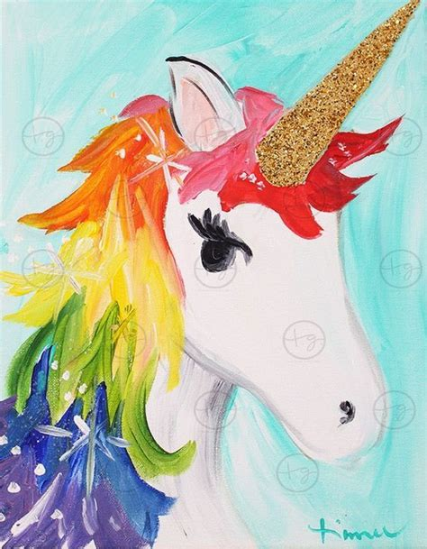 painting unicorn pin by sellitti artist hearts on kid stuff