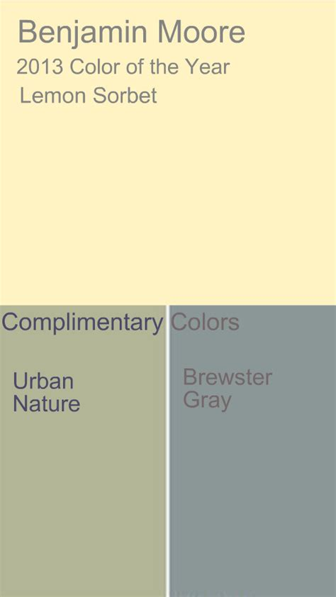 complimentary color for grey benjamin moore lemon sorbet pastels bright bold and