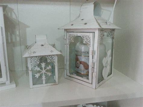 lanterne con candele haul natalizio misto addobbi lanterne porta candele da