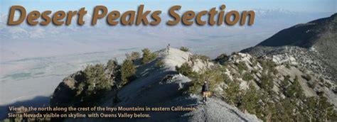 sierra peaks section desert peaks section