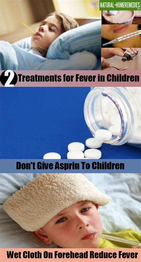 2 treatments for fever in children home remedies