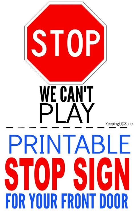How To Make A Stop Sign Out Of Paper - printable stop sign for door keeping sane