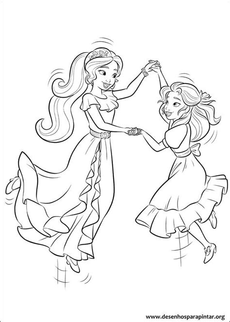 printable coloring pages elena of avalor princess isabel and elena of avalor colouring page