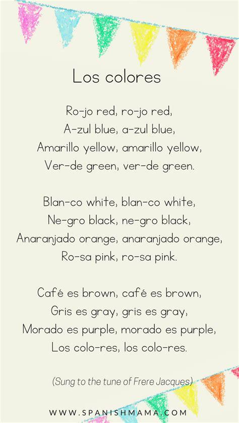 color songs for preschoolers preschool lesson 6 los colores