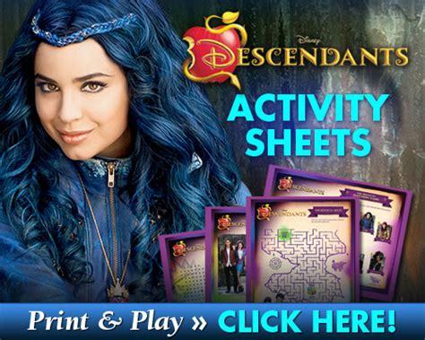 Craft Studio Ideas by Free Printable Disney Descendants Activity Sheets Mama