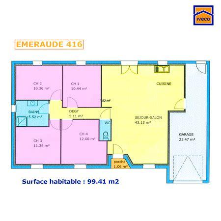 plan pavillon 100m2 plan de maison individuelle plain pied