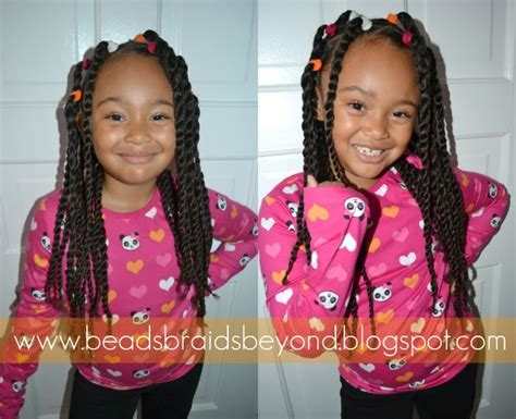 ponytails for biracial children beads braids and beyond banded two strand twist ponytails