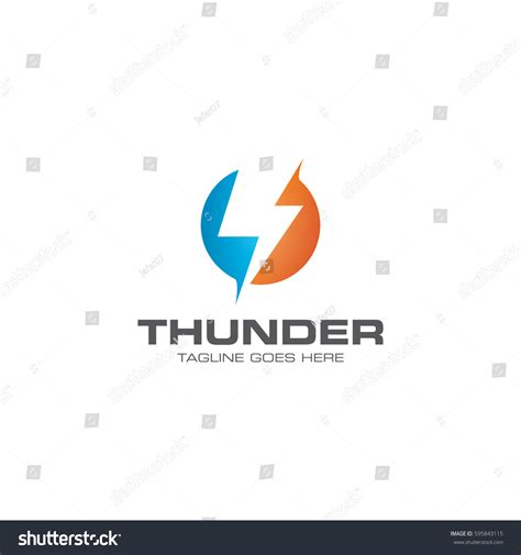thunder logo icon vector template stock vector 595843115