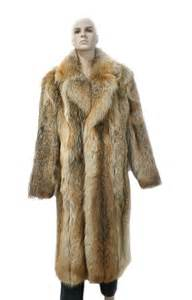 Natural Material Rugs 513267 New Natural Mens Coyote Fur Full Length Coat