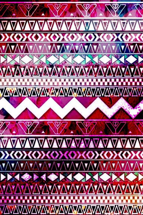 wallpaper cute tribal pink purple aztec print prints patterns pinterest