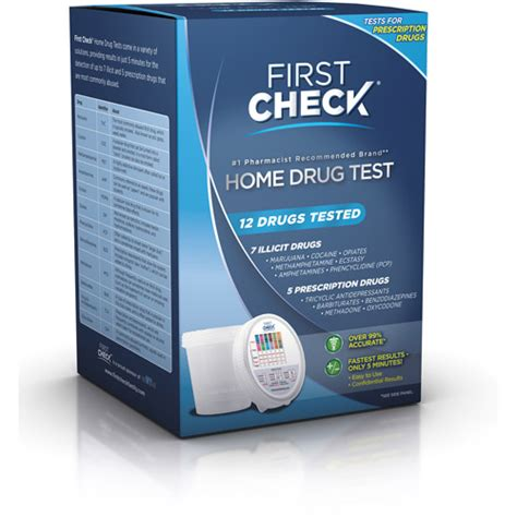 At Home Test by Check Home Test 12 Drugs Tested Walmart