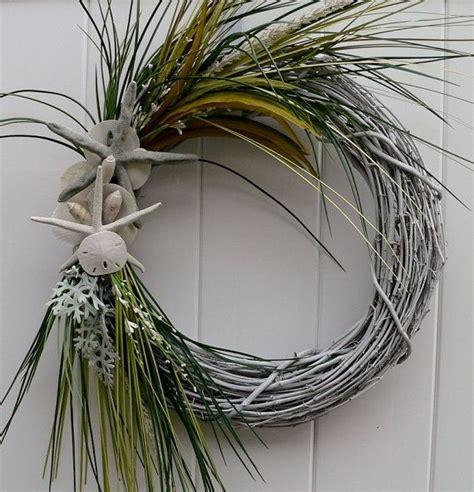 shell badezimmerdekor die besten 25 coastal wreath ideen auf