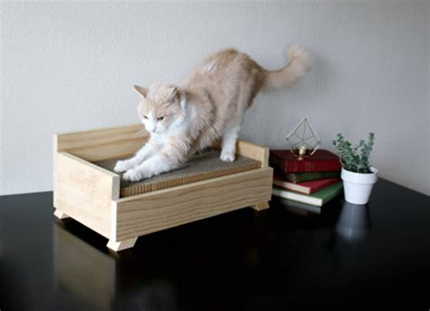 Handmade Cat Furniture - modern handcrafted wood cat furniture from