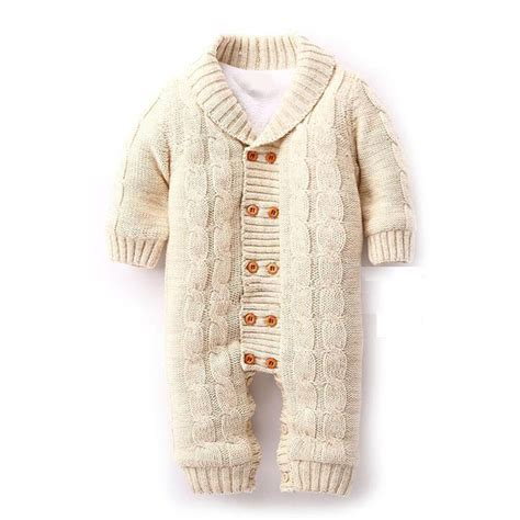 knitted newborn baby clothes high quality baby knitted rompers thickening sweater new