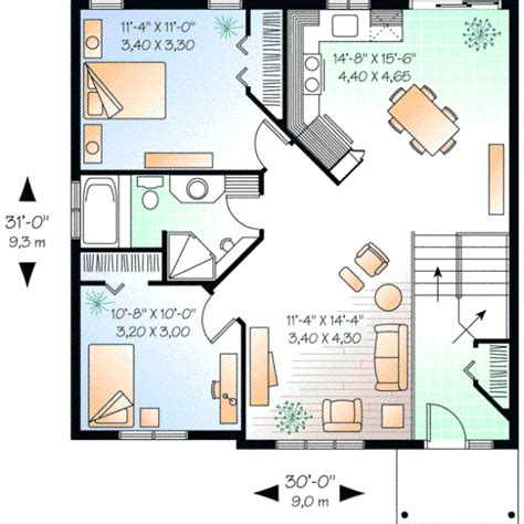 600 sq ft house interior design any style house plans 923 square foot home split entry story 2 bedroom and 1 bath