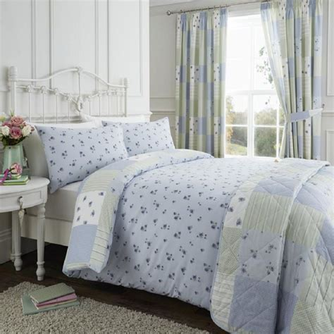 Patchwork Duvet Cover Uk - blue green reversible patchwork duvet cover set tonys