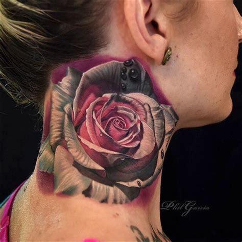 neck tattoo realistic 88 best flower tattoos on the internet amazingly beautiful