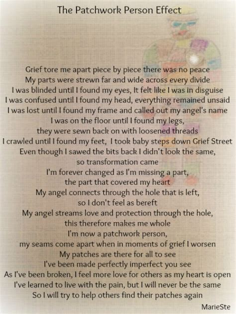 Patchwork Poem - the patchwork person effect the grief toolbox