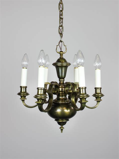 Colonial Revival Chandelier Colonial Revival Chandelier 6 Light Renew Gallery