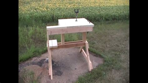 how to build a shooting bench out of wood rifle shooting bench by hpfirearms youtube