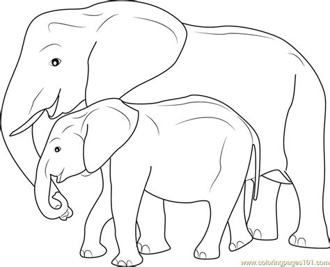 coloring pages mother and baby mother and baby elephant coloring page free elephant